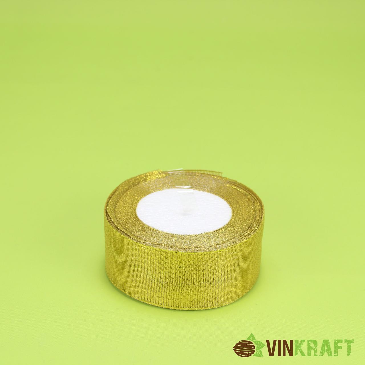 Стрічка парчова 4,0 см (23 м) золота