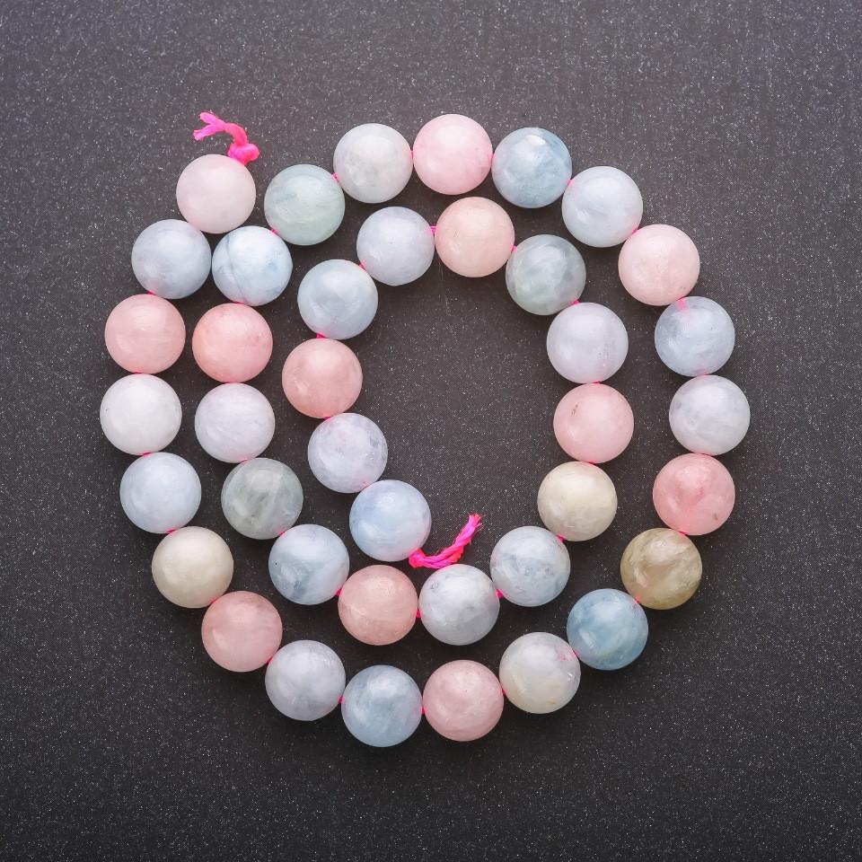 Бусины из натурального камня Опал гладкий шарик d-10мм L-40см
