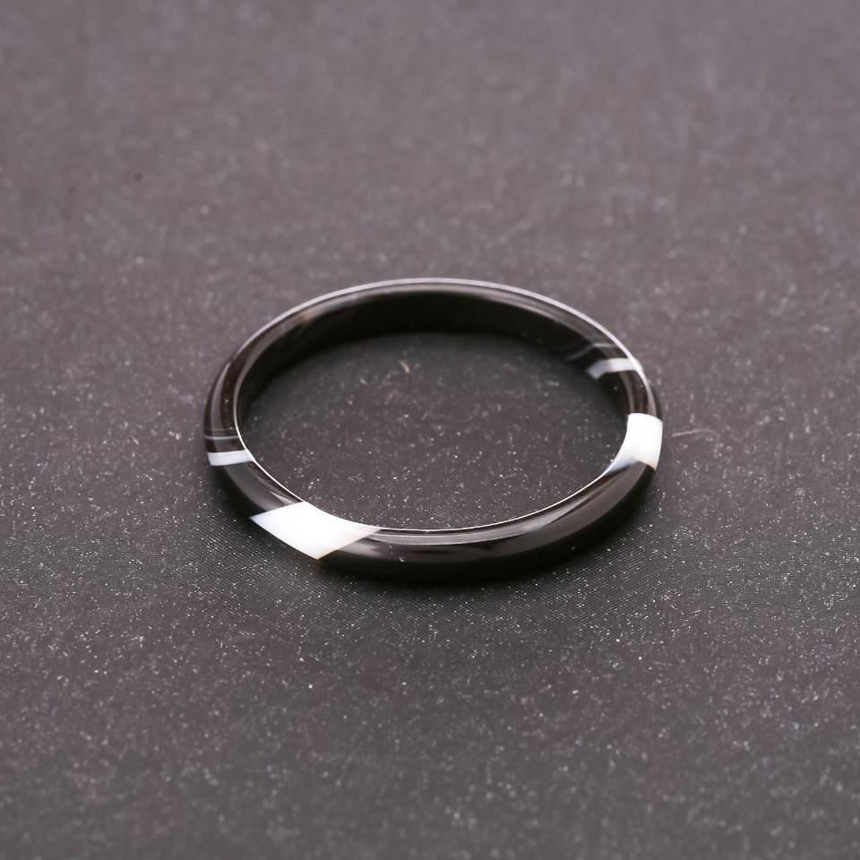 Кольцо из натурального камня Агат h-3мм внутр. d-18мм