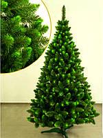 """Искусственная елка """"Королевская"""". Высота 2.50м + гирлянда. Два цвета (зеленый, белый). На подставке. зелный"""