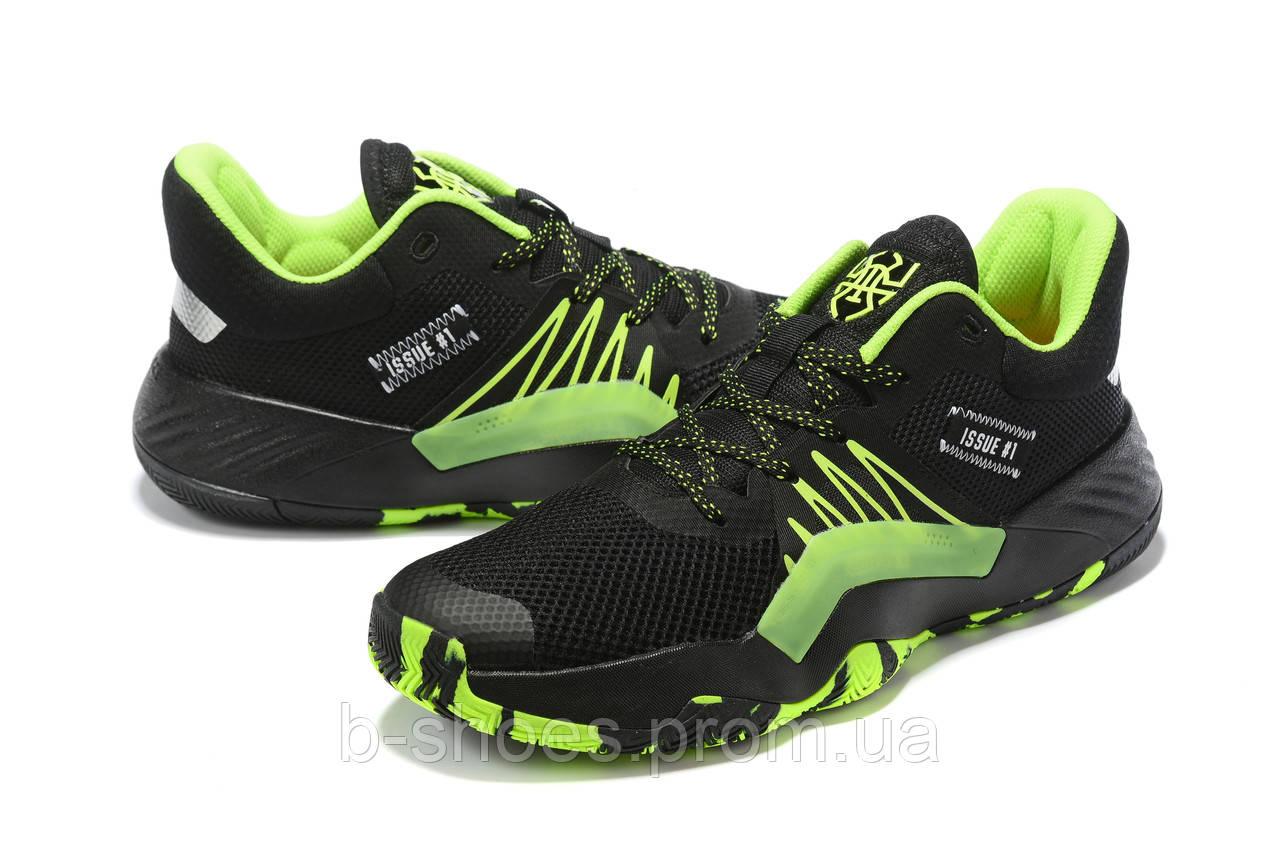 Мужские Баскетбольные кроссовки  Adidas  Don Issue 1 ( Donovan Mitchell ) (Black/green)