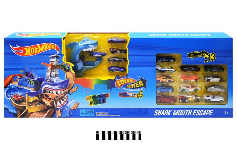 Гоночный трек Охота на акулу Автомойка Hot Wheel 6762 хот вилс 18 машинок