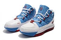 Мужские баскетбольные кроссовки  Nike LeBron Soldier 3 (White/blue), фото 1