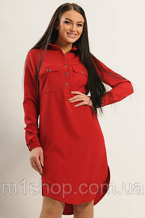 Женское однотонное платье-рубашка (Текила ri), фото 2