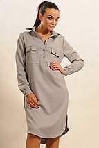Женское однотонное платье-рубашка (Текила ri), фото 3