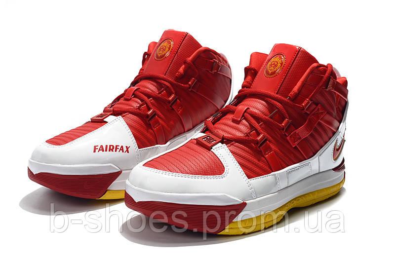 Мужские баскетбольные кроссовки  Nike LeBron Soldier 3 (Red)