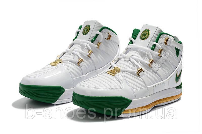 Мужские баскетбольные кроссовки  Nike LeBron Soldier 3 (White)