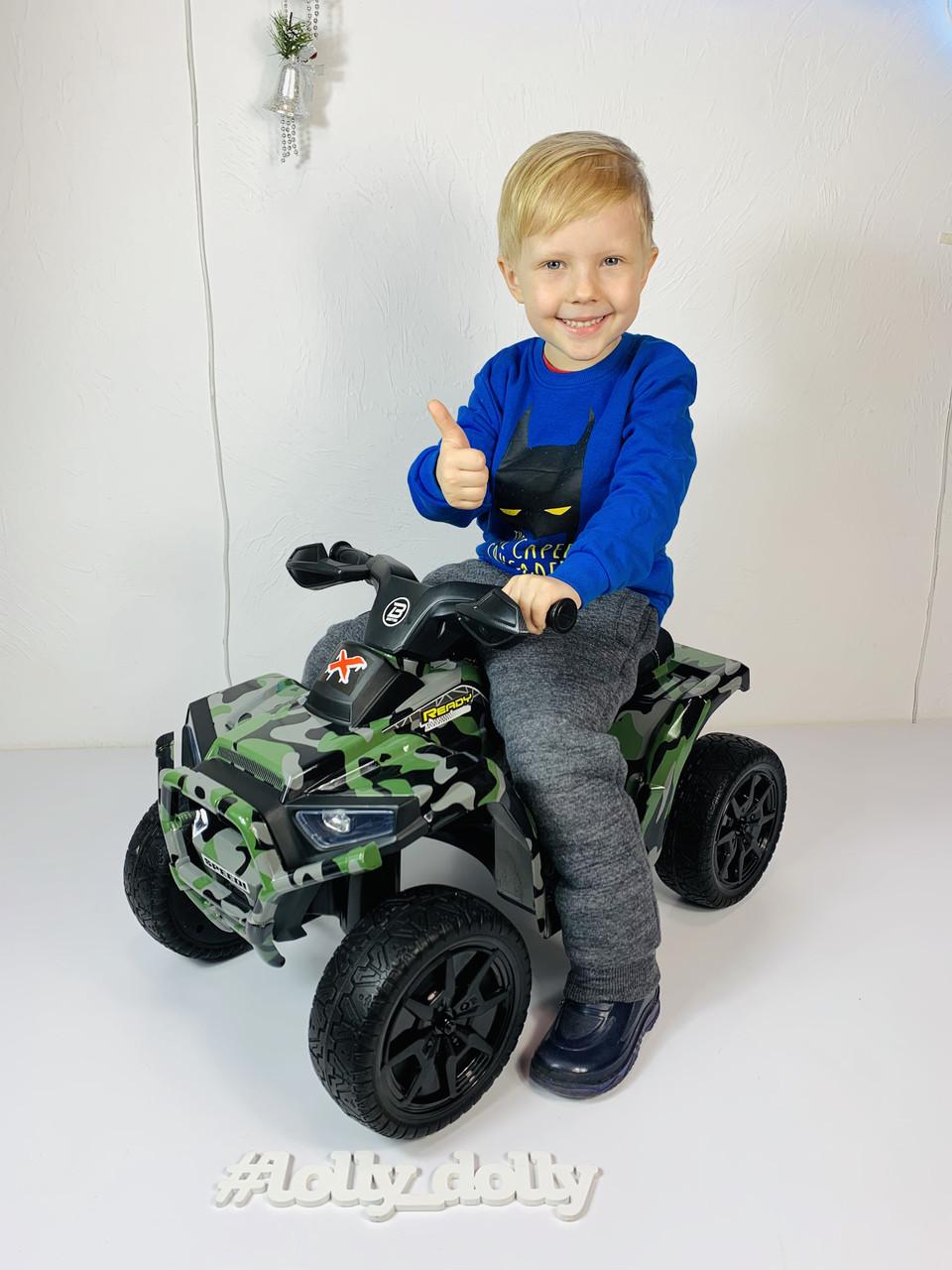 Детский электро квадроцикл M 4207 ELS камуфляж, кож сиденье