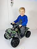 Детский электро квадроцикл M 4207 ELS камуфляж, кож сиденье, фото 2