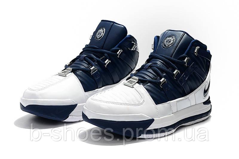 Мужские баскетбольные кроссовки  Nike LeBron Soldier 3 (Blue/white)