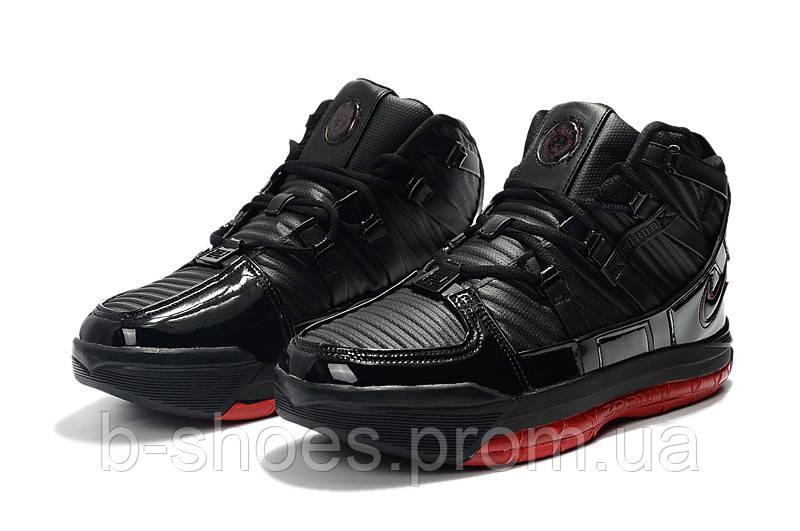 Мужские баскетбольные кроссовки  Nike LeBron Soldier 3 (Black/red)