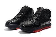 Мужские баскетбольные кроссовки  Nike LeBron Soldier 3 (Black/red), фото 1