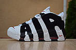 Мужские кроссовки Nike Air More Uptempo (бело-черные), фото 2