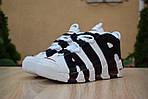 Мужские кроссовки Nike Air More Uptempo (бело-черные), фото 4