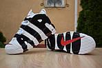 Мужские кроссовки Nike Air More Uptempo (бело-черные), фото 5