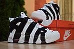 Мужские кроссовки Nike Air More Uptempo (бело-черные), фото 7