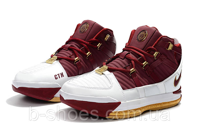 Мужские баскетбольные кроссовки  Nike LeBron Soldier 3 (Red/white)