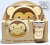 Набір дитячої бамбуковій посуду Мавпочка (5 предметів)