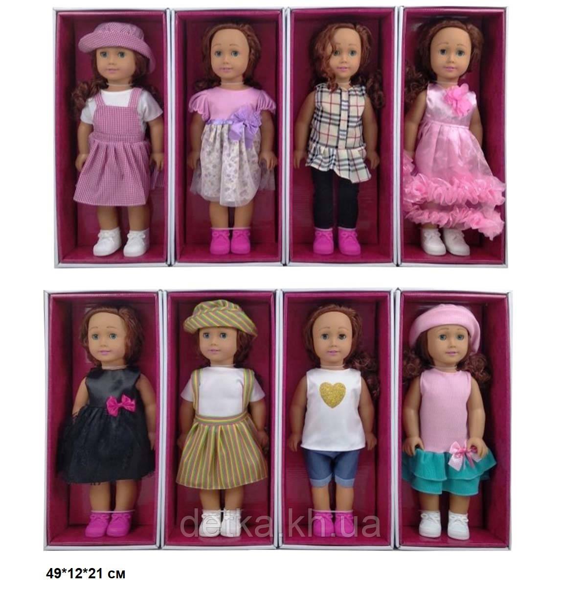 Кукла 46см 8920С American girls моргает 4в.кор.49*12*21