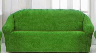 Накидка чехол на 3-х местный диван от 170 до 230 см зелёный