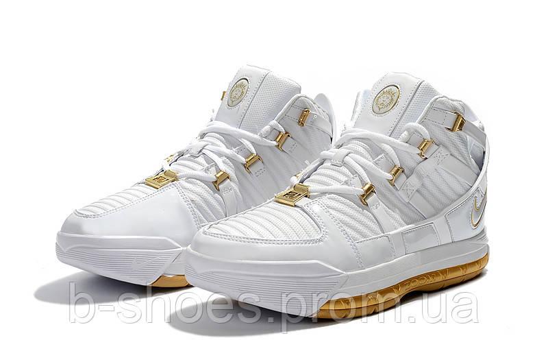 Мужские баскетбольные кроссовки  Nike LeBron Soldier 3 (White/gold)