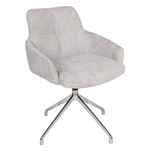 Кресло поворотное OLIVA  (59*63*83.5см текстиль) светло-серый