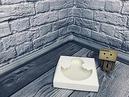 *10 шт* / Коробка для пряников / 150х150х30 мм / Белая / окно-цыпленок / Пасха