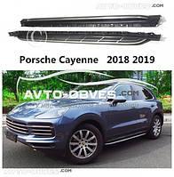 Боковые подножки под оригинал для Porsche Cayenne 2019 -