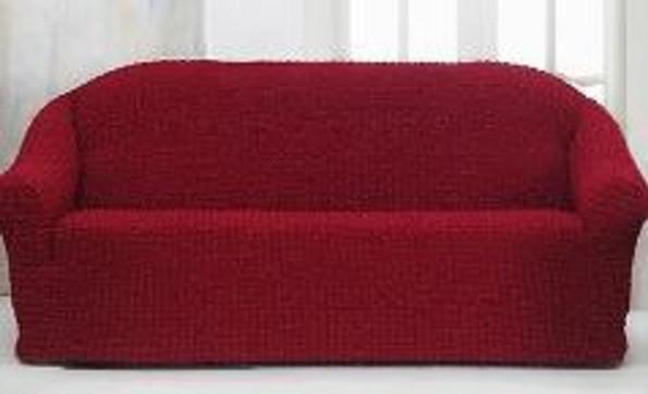 Накидка чохол на 3-х містний диван від 170 до 230 см бордова