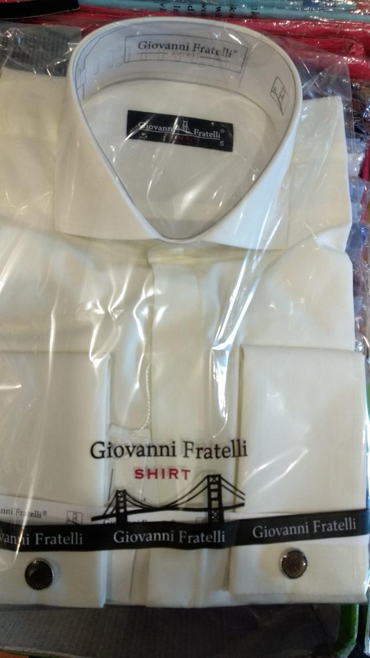 Рубашка мужская под бабочку Giovanni Fratelli айвери