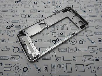 Средний корпус LG Q6 Alpha серебро оригинал с разборки