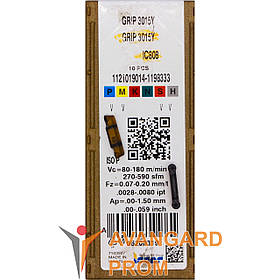 Пластина ISCAR GRIP 3015Y IC808