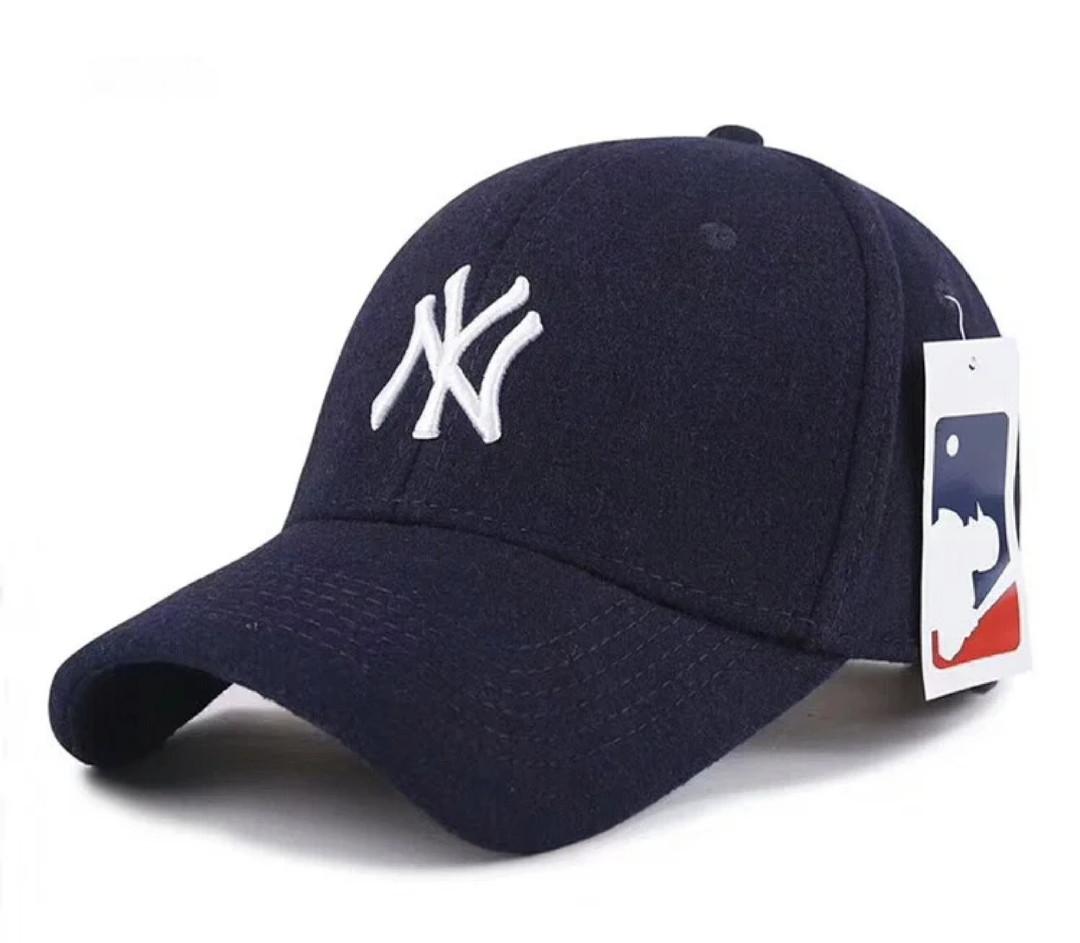 Зимняя бейсболка New York. Мужские бейсболки.