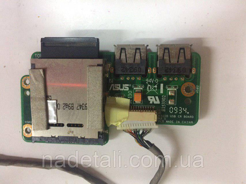 Плата USB ноутбука Asus X5EA  USB CR BOARD 1414-01BK0AS