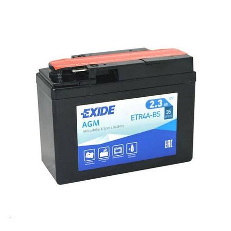 EXIDE 6АС-2,3 (ETR4A-BS) Мото аккумулятор, фото 2