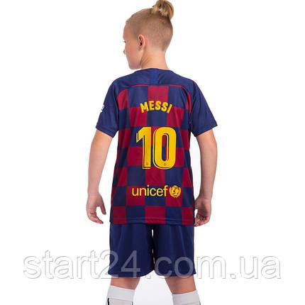 Форма футбольная детская BARCELONA MESSI 10 домашняя 2019, фото 2