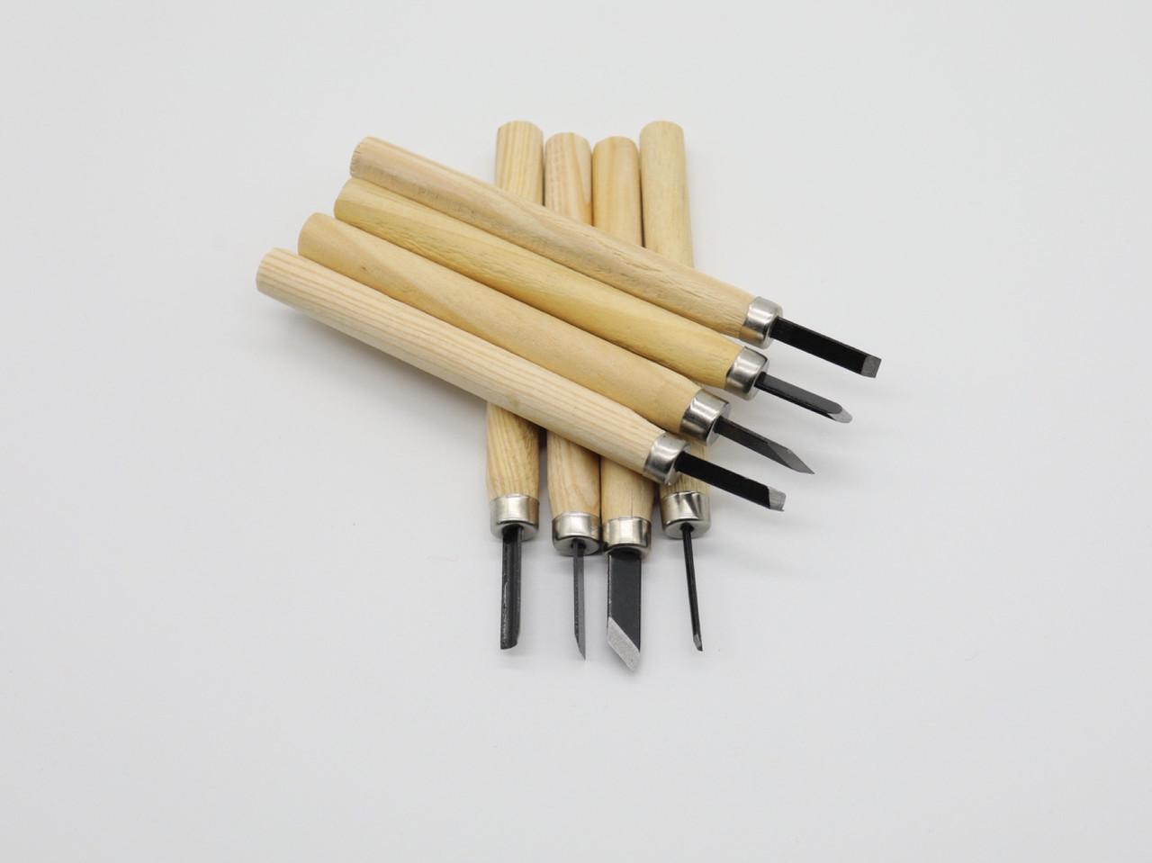Стамески для резьбы по дереву. 8шт
