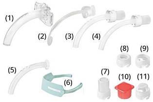 Трахеостомическая трубка KAN 6.0 без манжеты, со сменными канюлями,фенестрированная (Набор для трахеостомии)