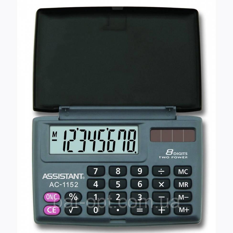 Калькулятор карманный Assistant AC-1152 8-разрядный (58х87х10мм)