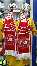 Шарф фанатский вязанный с символикой сборной Дании