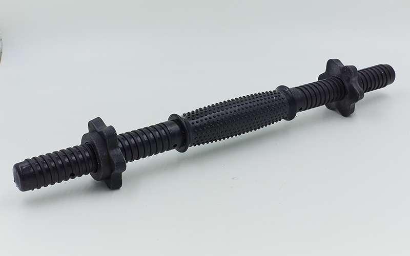 Гриф гантельний прогумований пластиковий 42 см (25 мм)