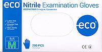 Перчатки ECO Nitrile, нитриловые смотровые нестерильные, неопудренные, голубой цвет, ЭКО Нитрил 3.5 грамма