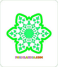 Трафарет + формочка-вырубка для пряников Снежинка №18