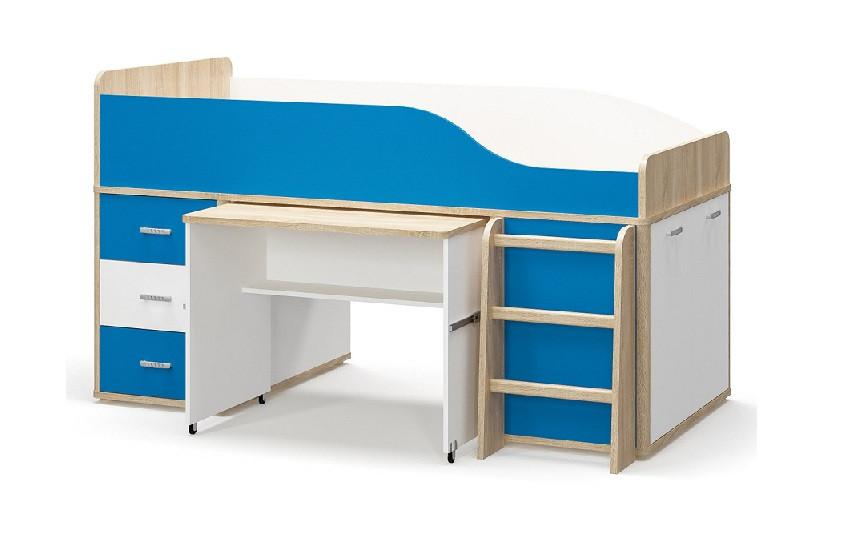Детская кровать горка со столом Лео (Мебель-Сервис)