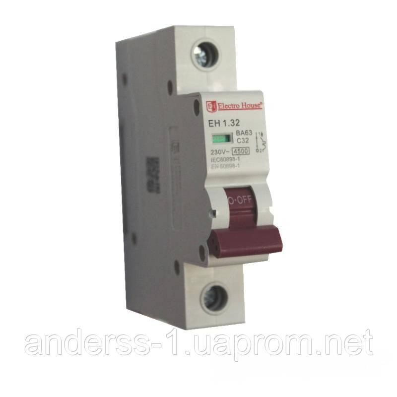 Автоматичний вимикач 1P 32A EH-1.32