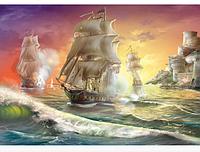 Пазлы 1000 элементов Военный корабль.Пазлы для детей и взрослых Данкотойс.