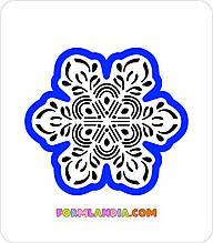 Трафарет + формочка-вырубка для пряников Снежинка №39