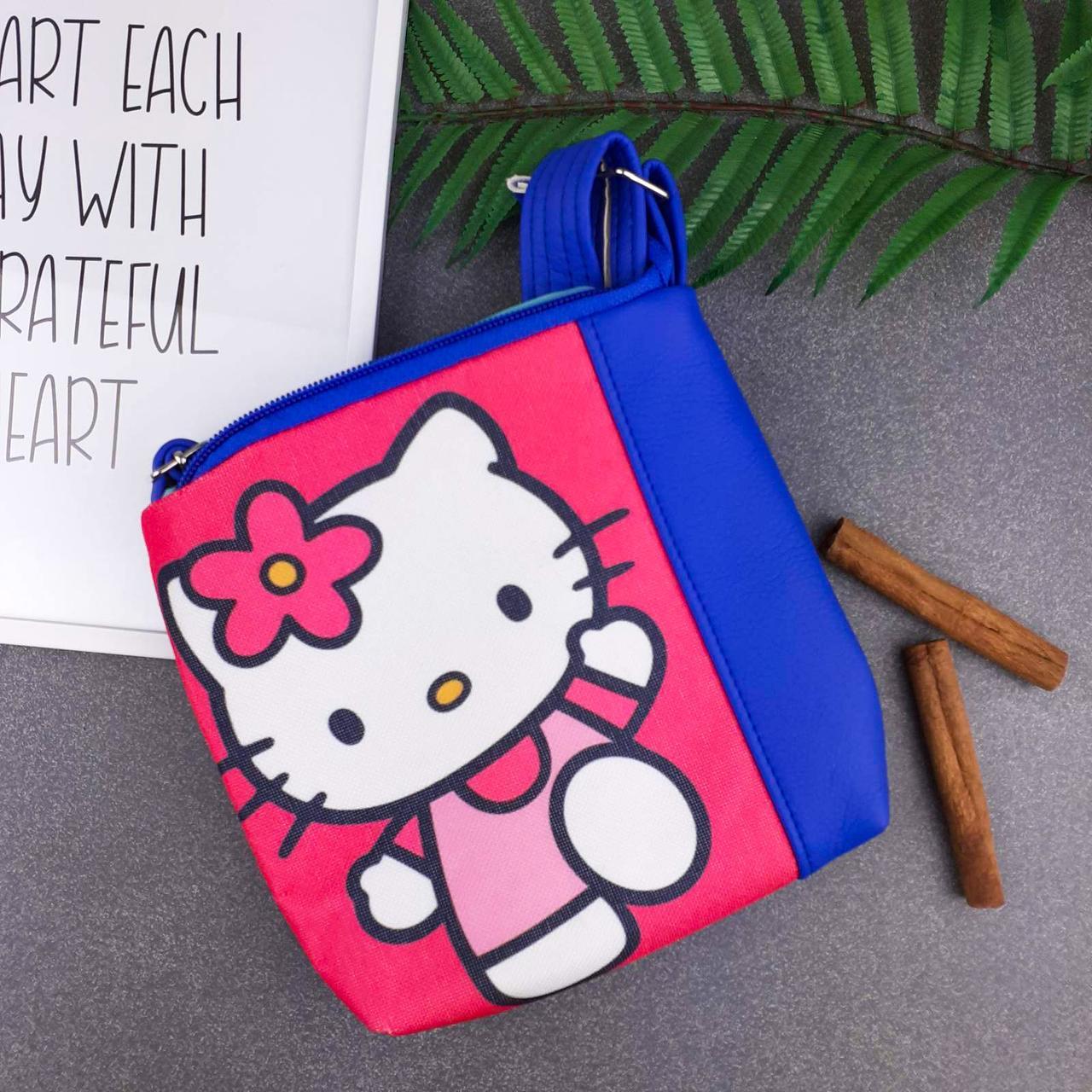 Синяя детская сумочка Mini Miss с принтом Хелло Китти