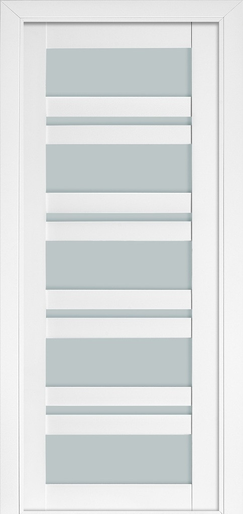 Дверь межкомнатная Terminus Модель 107 Белый матовый (застекленная)