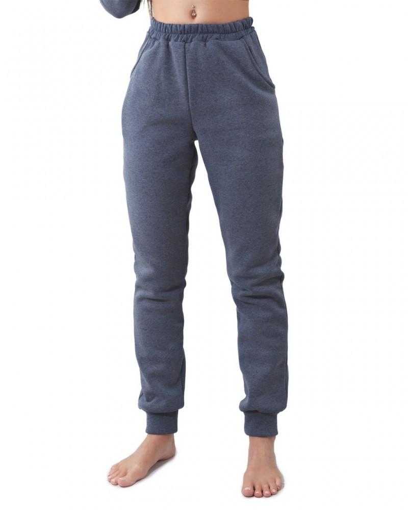 Утеплённые спортивные штаны с манжетом